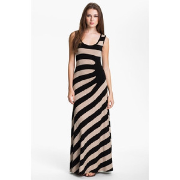 ff7fbf47051 Calvin Klein Dresses   Skirts - Calvin Klein Asymmetrical Striped Maxi Dress